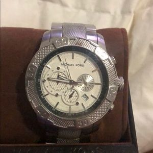 Men's Michael Kora watch new with tags - silver